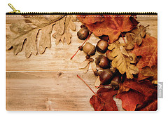 Carry-all Pouch featuring the photograph Leaves And Nuts 1 by Rebecca Cozart