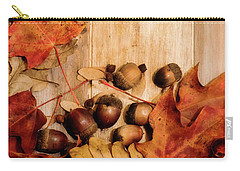Carry-all Pouch featuring the photograph Leaves And Nuts 2 by Rebecca Cozart