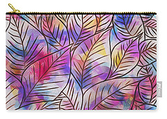 Leaves Colorful Abstract Design Carry-all Pouch