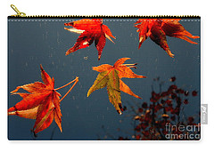 Leaves Falling Down Carry-all Pouch by Marie Neder