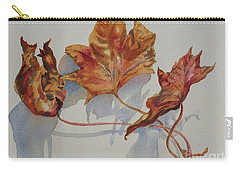 Leaves Of Fall Carry-all Pouch by Mary Haley-Rocks