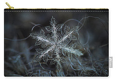 Carry-all Pouch featuring the photograph Leaves Of Ice by Alexey Kljatov