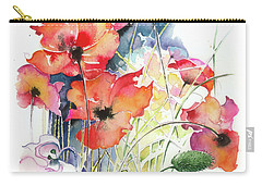 Carry-all Pouch featuring the painting Leaving The Shadow by Anna Ewa Miarczynska