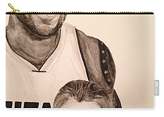 Carry-all Pouch featuring the painting Lebron And Carter by Tamir Barkan