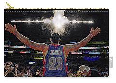 Lebron James Chalk Toss Basketball Art Landscape Painting Carry-all Pouch