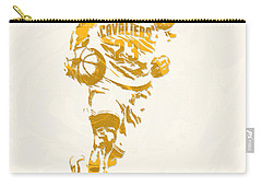 Lebron James Cleveland Cavaliers Pixel Art 11 Carry-all Pouch