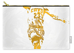 Lebron James Cleveland Cavaliers Pixel Art 12 Carry-all Pouch