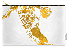 Lebron James Cleveland Cavaliers Pixel Art 15 Carry-all Pouch