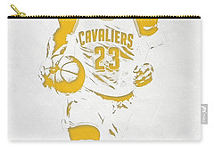 Lebron James Cleveland Cavaliers Pixel Art 5 Carry-all Pouch by Joe Hamilton