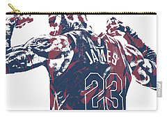 Lebron James Cleveland Cavaliers Pixel Art 53 Carry-all Pouch