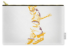 Lebron James Cleveland Cavaliers Pixel Art Carry-all Pouch by Joe Hamilton