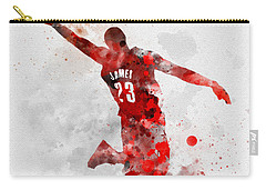 Lebron James Carry-all Pouch by Rebecca Jenkins