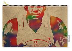 Lebron James Watercolor Portrait Carry-all Pouch