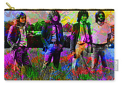 Led Zeppelin Band Portrait Paint Splatters Pop Art Carry-all Pouch by Design Turnpike