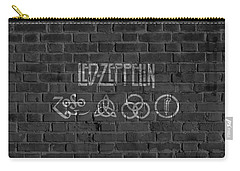 Led Zeppelin Brick Wall Carry-all Pouch by Dan Sproul