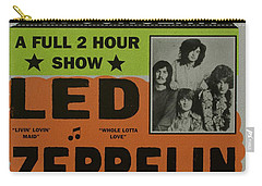 Led Zeppelin Live In Concert At The Baltimore Civic Center Poster Carry-all Pouch