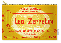 Led Zeppelin Ticket Carry-all Pouch by David Lee Thompson