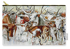 Legacy Of The Longhorn Carry-all Pouch
