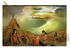 Carry-all Pouch featuring the digital art Legends Of The Sky People  by Shadowlea Is