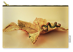 Leaf Plate 1 Carry-all Pouch by Itzhak Richter