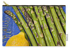 Lemon And Asparagus  Carry-all Pouch by Garry Gay