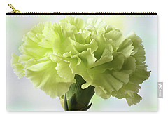 Lemon Carnation Carry-all Pouch by Terence Davis