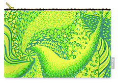 Carry-all Pouch featuring the drawing Lemon Lime by Kim Sy Ok
