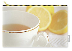 Carry-all Pouch featuring the photograph Lemon Tea by Lyn Randle