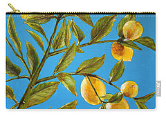 Carry-all Pouch featuring the painting Lemon Tree by Marna Edwards Flavell