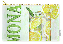 Carry-all Pouch featuring the painting Lemonade by Debbie DeWitt