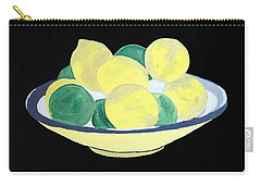 Lemons And Limes In Bowl Carry-all Pouch