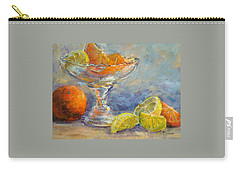 Lemons And Oranges Carry-all Pouch by Jill Musser