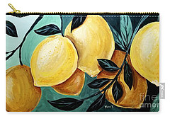 Carry-all Pouch featuring the painting Lemons by Maria Langgle