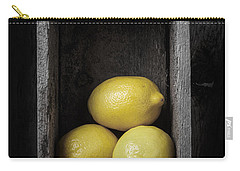 Lemons Still Life Carry-all Pouch by Edward Fielding
