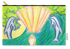Carry-all Pouch featuring the drawing Lemuria Atlantis by Kim Sy Ok
