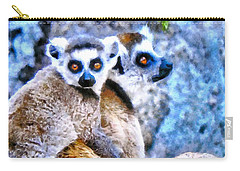 Lemurs Of Madagascar Carry-all Pouch by Maciek Froncisz