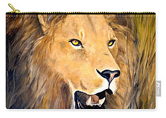 Carry-all Pouch featuring the painting Leo by Alan Lakin