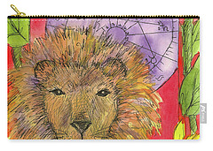 Carry-all Pouch featuring the painting Leo by Cathie Richardson