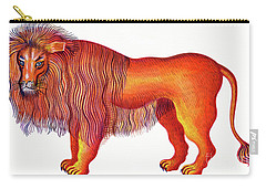 Leo The Lion Carry-all Pouch by Jane Tattersfield