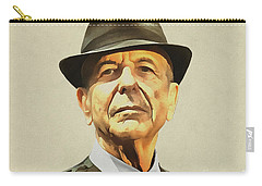 Leonard Cohen Carry-all Pouch by Sergey Lukashin
