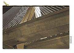 Leonard P. Zakim Bunker Hill Bridge In Sepia Carry-all Pouch
