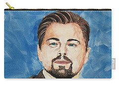 Leonardo Dicaprio  30 Minutes Watercolor Painting  Carry-all Pouch by Edwin Alverio