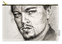 Leonardo Dicaprio Portrait Nr.2 Carry-all Pouch by Alban Dizdari
