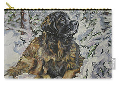 Leonberger In The Snow Carry-all Pouch