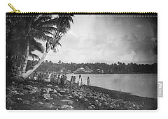Carry-all Pouch featuring the painting Leoni, Tutuila, Samoa, Photographed In Tutuila, Samoa, Published By Kerry And Company, Sydney, New by Artistic Panda