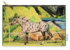 Leopard Appaloosa - Dream Horse Series Carry-all Pouch by Cheryl Poland