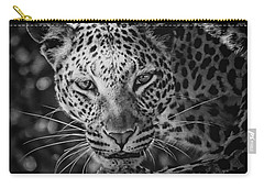 Leopard, Black And White Carry-all Pouch