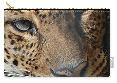 Carry-all Pouch featuring the photograph Leopard Face by Richard Bryce and Family