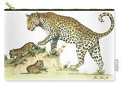 Leopard Family Carry-all Pouch