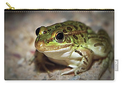 Carry-all Pouch featuring the photograph Leopard Frog by Elaine Malott